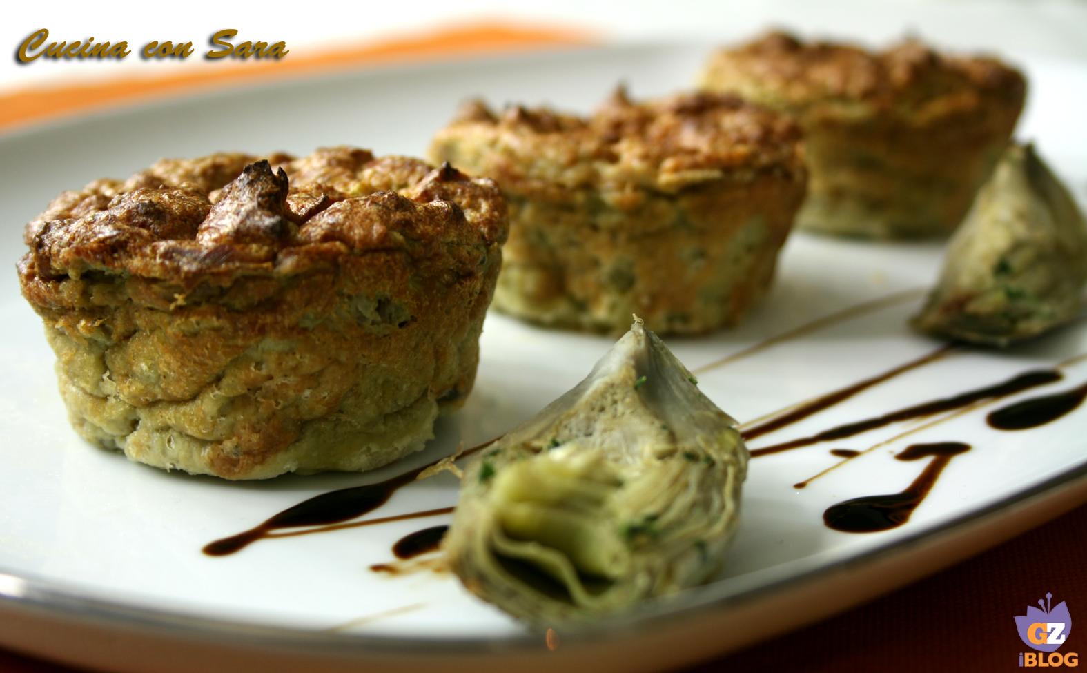 Antipasti sformato di carciofi con crema di parmigiano for Ricette con carciofi